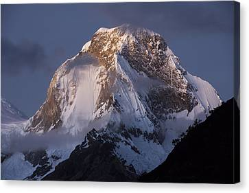 Snow-covered Peaks Huscaran Mountain Canvas Print by Cyril Ruoso