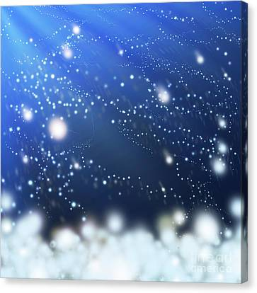Snow In The Wind Canvas Print by Atiketta Sangasaeng
