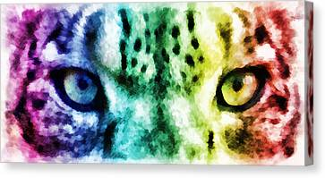 Snow Leopard Eyes 2 Canvas Print by Angelina Vick