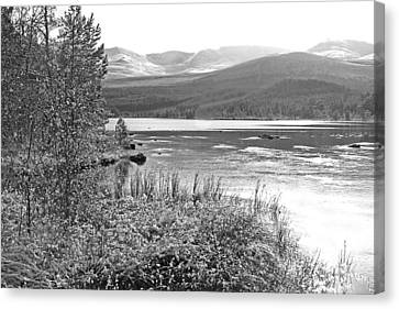 Snow On The Cairngorms Canvas Print by Gill Billington