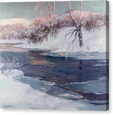 Snow Scene Canvas Print by Albert Julius Olsson