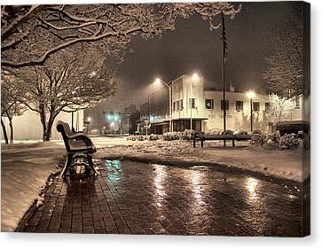 Snow Square - Color Canvas Print by Jimmy McDonald