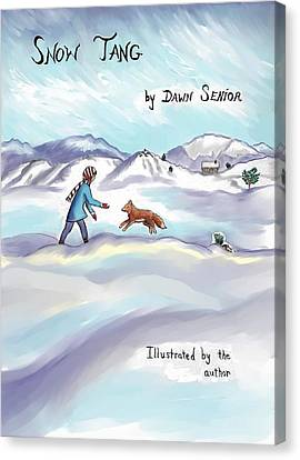 Snow Tang - Story Cover Age 12 Canvas Print by Dawn Senior-Trask