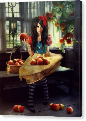 Snow White Canvas Print by Cindy Grundsten