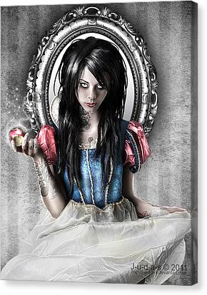 Snow White Canvas Print by Judas Art