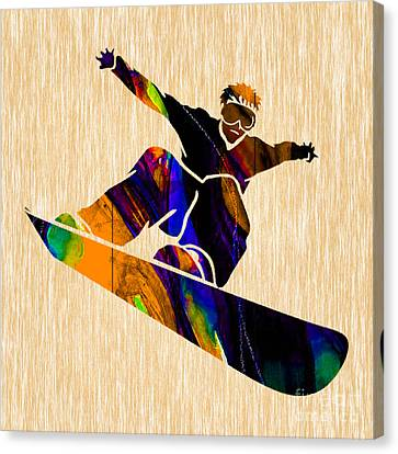 Snowboarder Canvas Print by Marvin Blaine