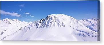 Snowcapped Mountain Range, Ski Stuben Canvas Print by Panoramic Images