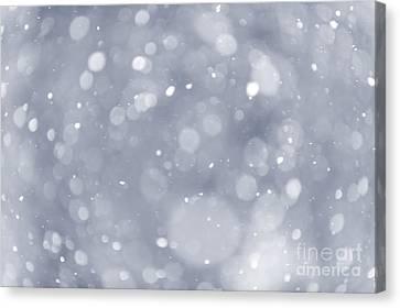 Snowfall Background Canvas Print by Elena Elisseeva