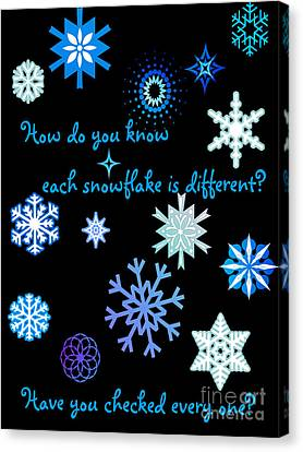 Snowflakes 2 Canvas Print by Methune Hively