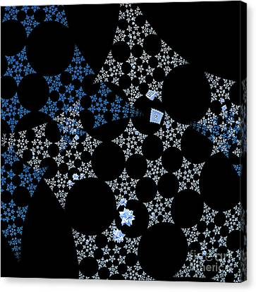 Snowflakes By Jammer Canvas Print by First Star Art