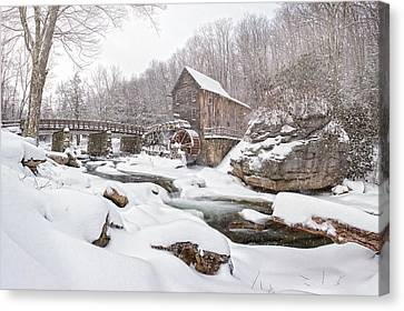 Snowglade Creek Grist Mill 1 Canvas Print by Emmanuel Panagiotakis