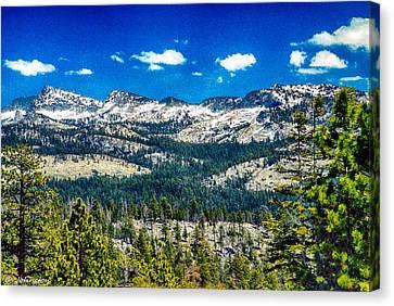 Snowline In Yosemite National Park Canvas Print by Bob and Nadine Johnston