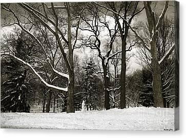 Snowman Canvas Print by Madeline Ellis