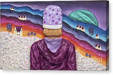 Snowscape Canvas Print by Anne Klar