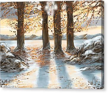 Snowscape Canvas Print by Veronica Minozzi