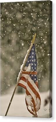 Snowy American Canvas Print by Trish Tritz