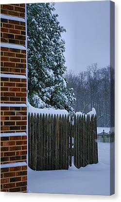 Snowy Corner Canvas Print by Steven Ainsworth