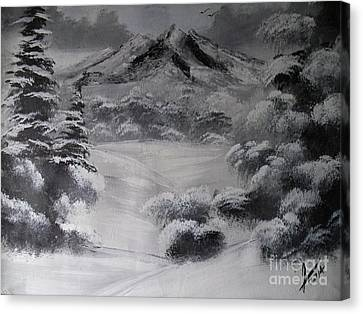 Snowy Forest Canvas Print by Collin A Clarke