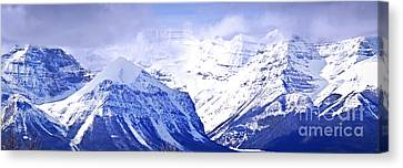 Snowy Mountains Canvas Print by Elena Elisseeva