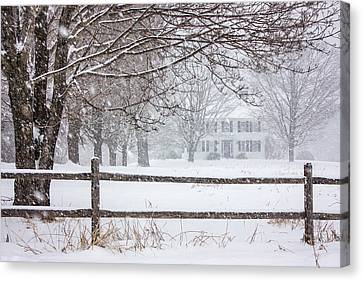 Snowy New England Canvas Print by Benjamin Williamson
