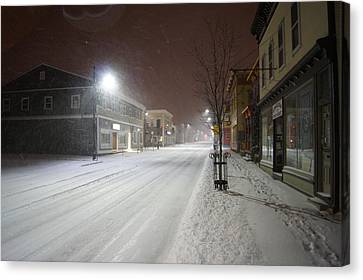 Snowy Night Canvas Print by Alan Chandler