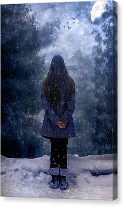 Snowy Night Canvas Print by Joana Kruse