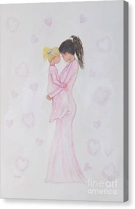 Snuggle Bug Canvas Print by Leslie Allen