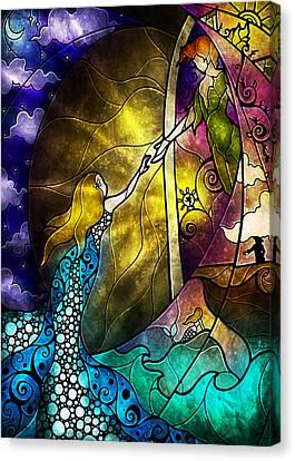 Off To Neverland Canvas Print by Mandie Manzano