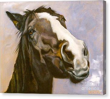 Hot To Trot Canvas Print by Susan A Becker