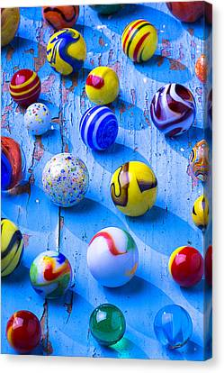 So Many Beautiful Marbles Canvas Print by Garry Gay