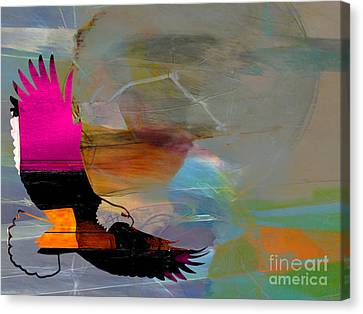 Soaring Eagle Canvas Print by Marvin Blaine