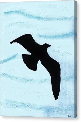 Jonathan - The  -seagull Canvas Print by D Hackett