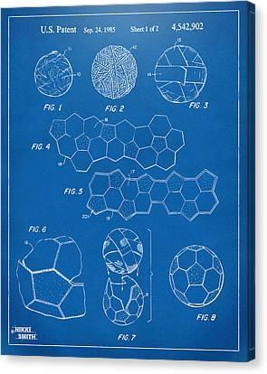 Soccer Ball Construction Artwork - Blueprint Canvas Print by Nikki Marie Smith