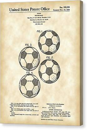 Soccer Ball Patent 1964 - Vintage Canvas Print by Stephen Younts