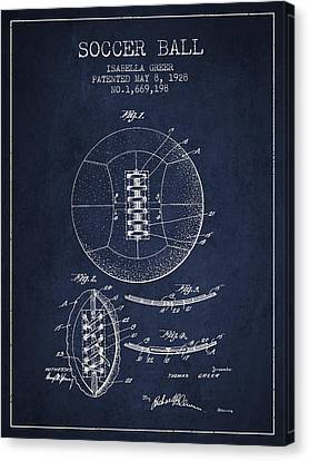 Soccer Ball Patent From 1928 Canvas Print by Aged Pixel