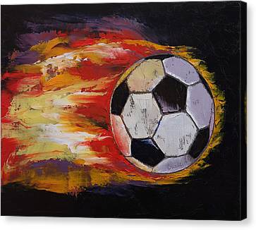 Soccer Canvas Print by Michael Creese