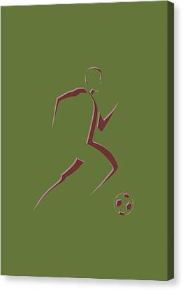 Soccer Player10 Canvas Print by Joe Hamilton