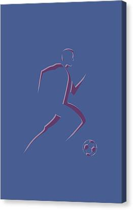 Soccer Player2 Canvas Print by Joe Hamilton