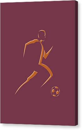 Soccer Player4 Canvas Print by Joe Hamilton