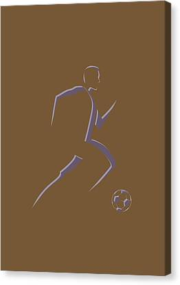 Soccer Player5 Canvas Print by Joe Hamilton