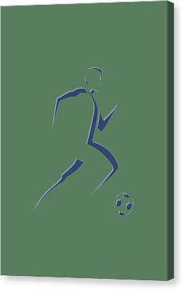 Soccer Player6 Canvas Print by Joe Hamilton