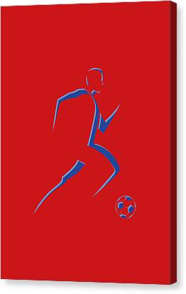 Soccer Player8 Canvas Print by Joe Hamilton