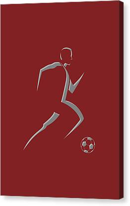 Soccer Player9 Canvas Print by Joe Hamilton