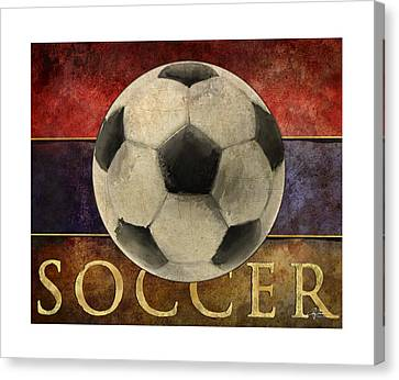 Soccer Poster Canvas Print by Craig Tinder
