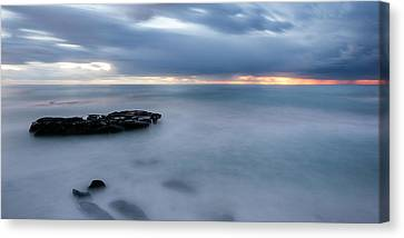 Soft Blue And Wide Canvas Print by Peter Tellone