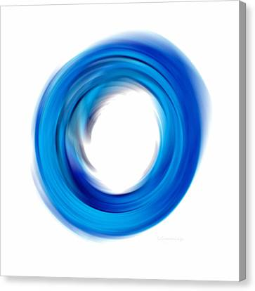 Soft Blue Enso - Abstract Art By Sharon Cummings Canvas Print by Sharon Cummings