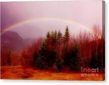 Soft Cape Breton Rainbow Canvas Print by John Malone