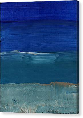 Soft Crashing Waves- Abstract Landscape Canvas Print by Linda Woods
