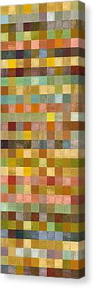 Soft Palette Rustic Wood Series Collage Lll Canvas Print by Michelle Calkins