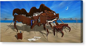 Softe Grand Piano Left Handed Panoramic Canvas Print by Mike McGlothlen